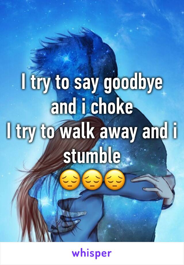 try to walk away