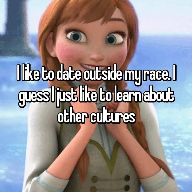 I prefer hookup outside my race