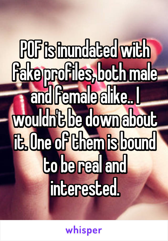 pof fake male profiles