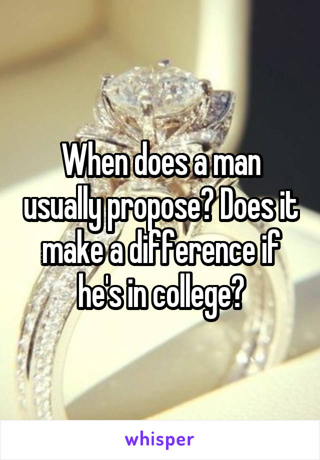 when does a man propose