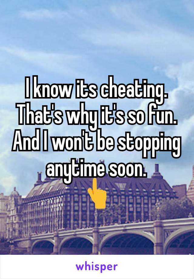 I know its cheating. That's why it's so fun. And I won't be stopping anytime soon. 👆