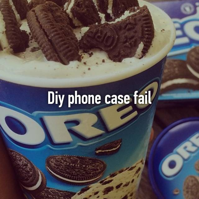 Diy phone case fail😂
