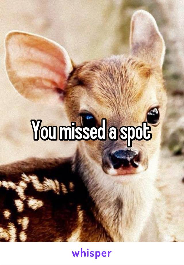 You missed a spot