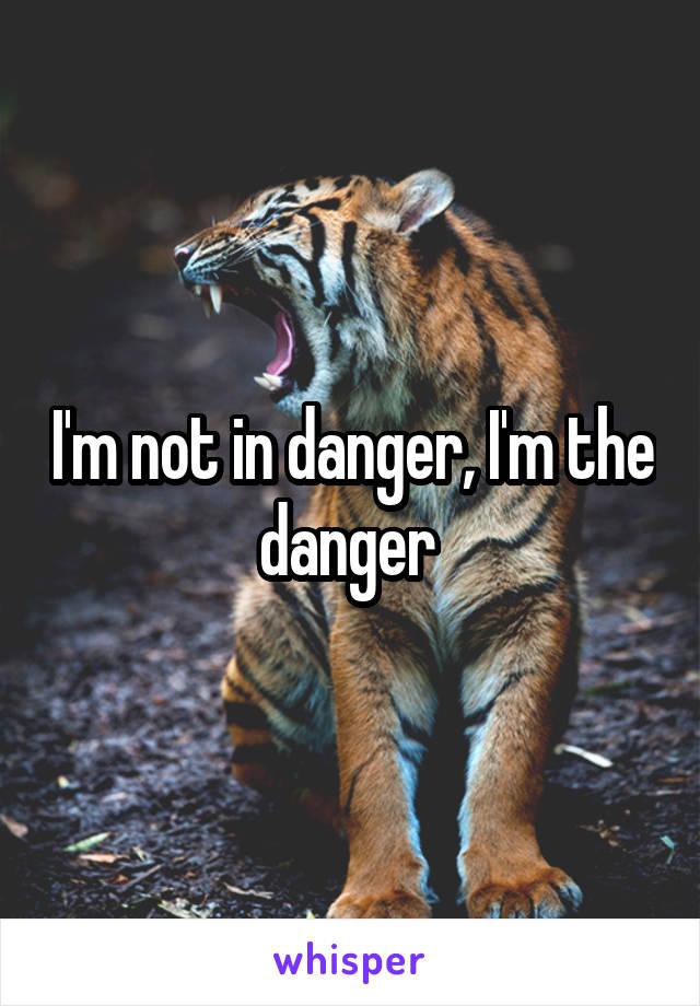 I'm not in danger, I'm the danger