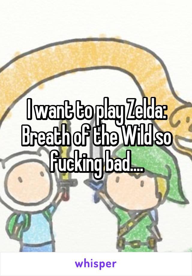 I want to play Zelda: Breath of the Wild so fucking bad....