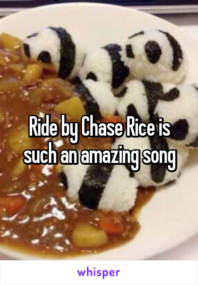 Ride by Chase Rice is such an amazing song