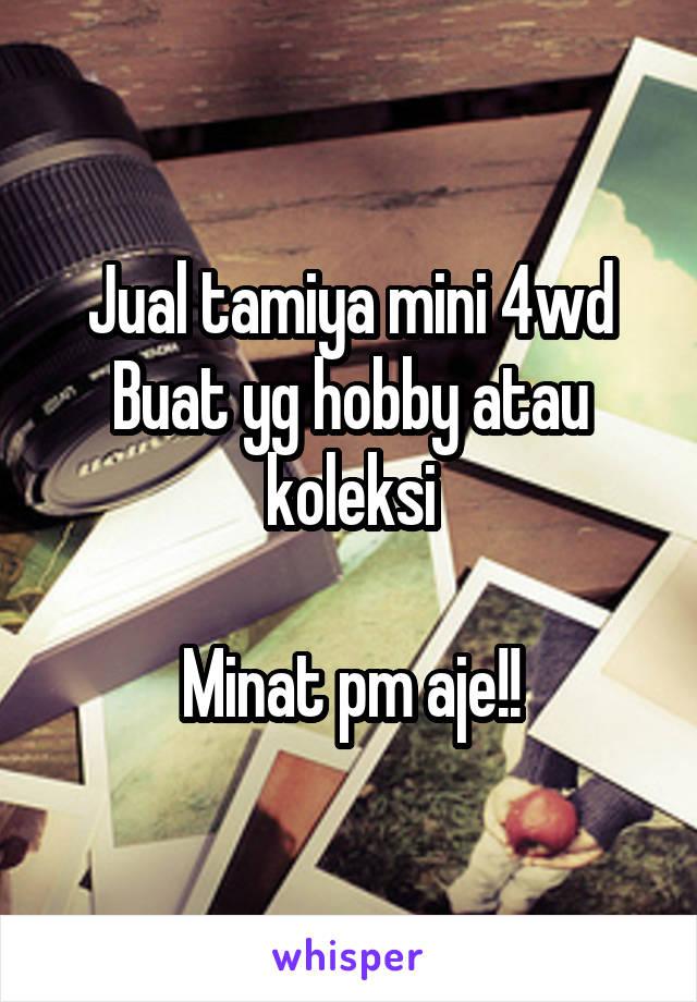 Jual tamiya mini 4wd Buat yg hobby atau koleksi  Minat pm aje!!