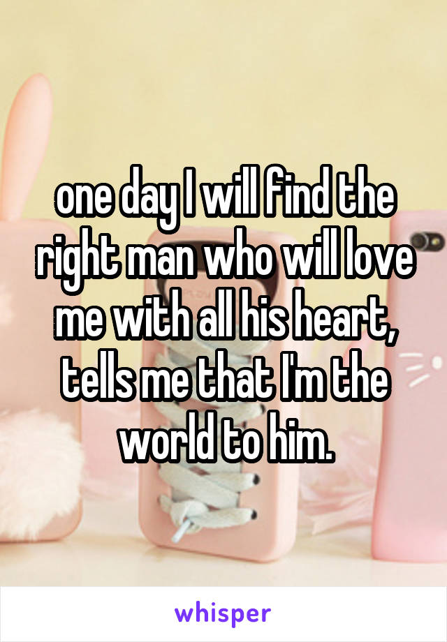 finding the right man for me