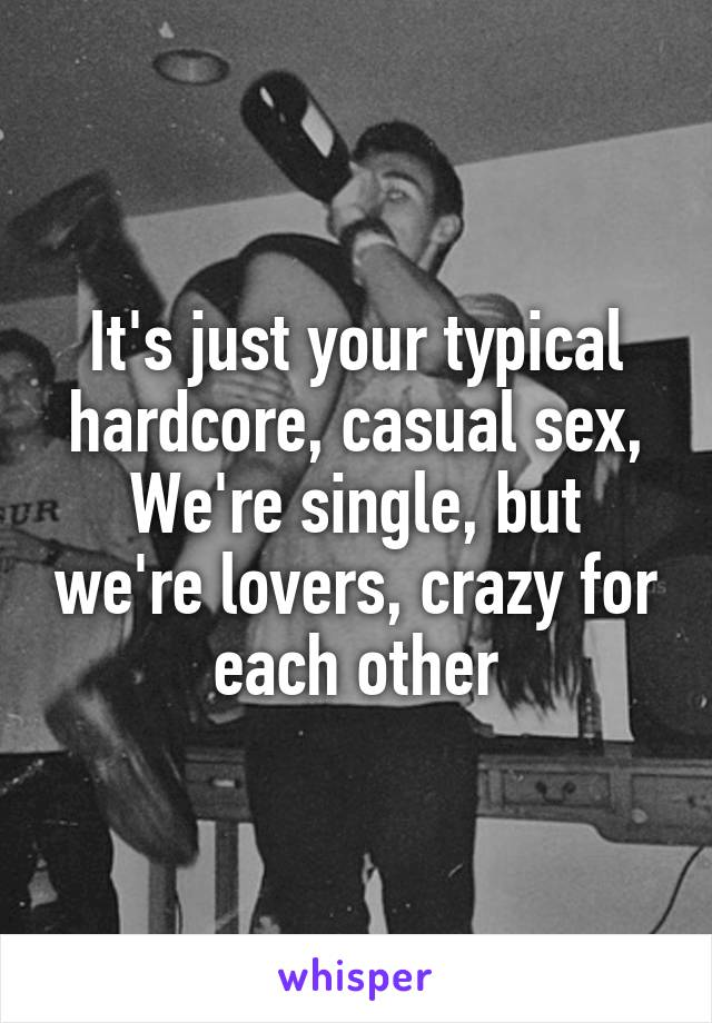 Apologise, but hardcore casual sex
