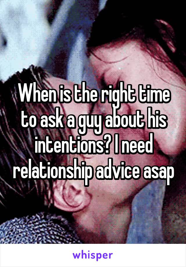 Ask a guy relationship advice