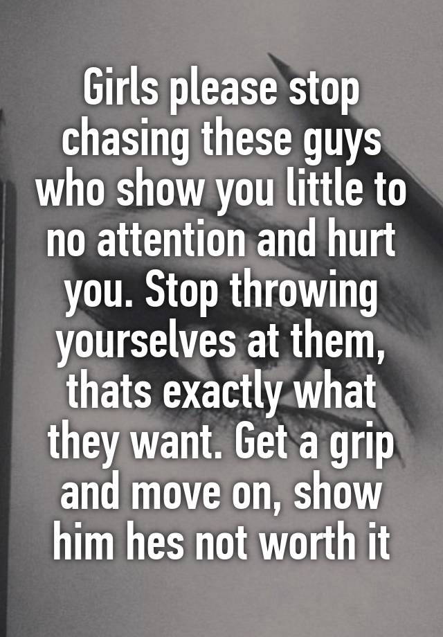You stop man chasing when happens what a Chasing a