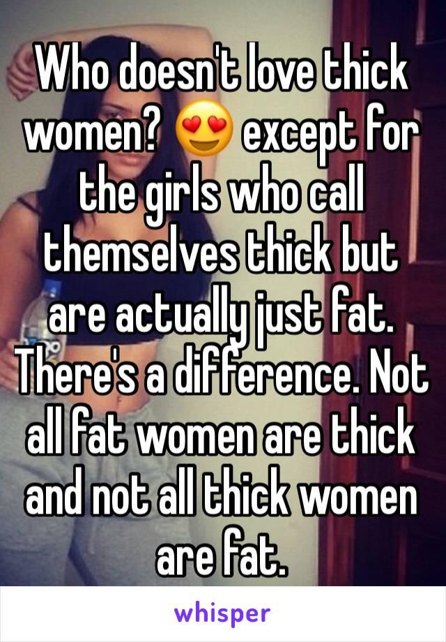 thick women love