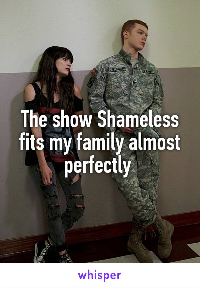The show Shameless fits my family almost perfectly