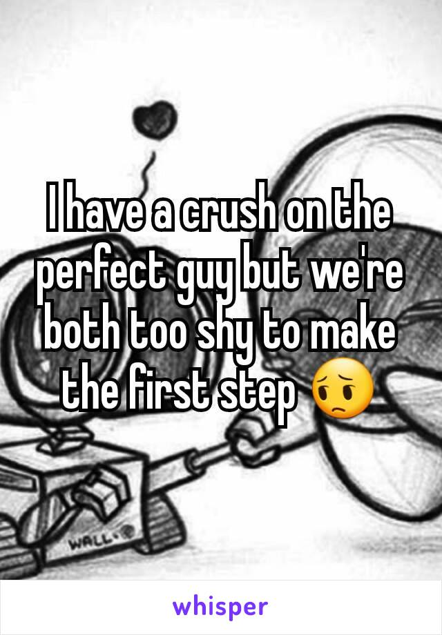 I have a crush on the perfect guy but we're both too shy to make the first step 😔