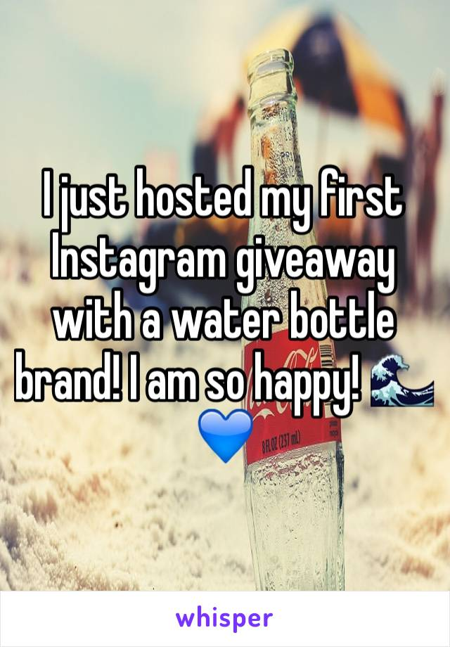 I just hosted my first Instagram giveaway with a water bottle brand! I am so happy! 🌊💙
