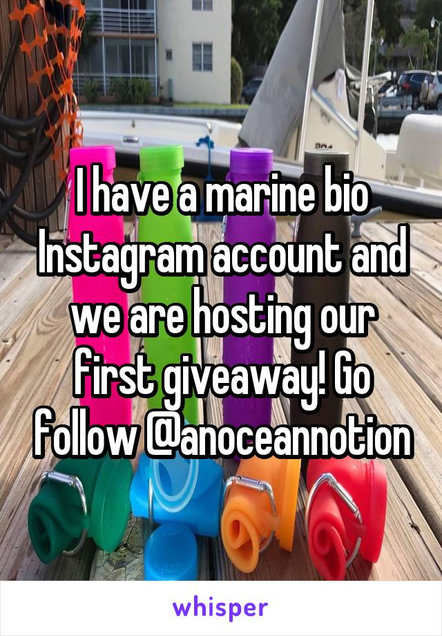 I have a marine bio Instagram account and we are hosting our first giveaway! Go follow @anoceannotion