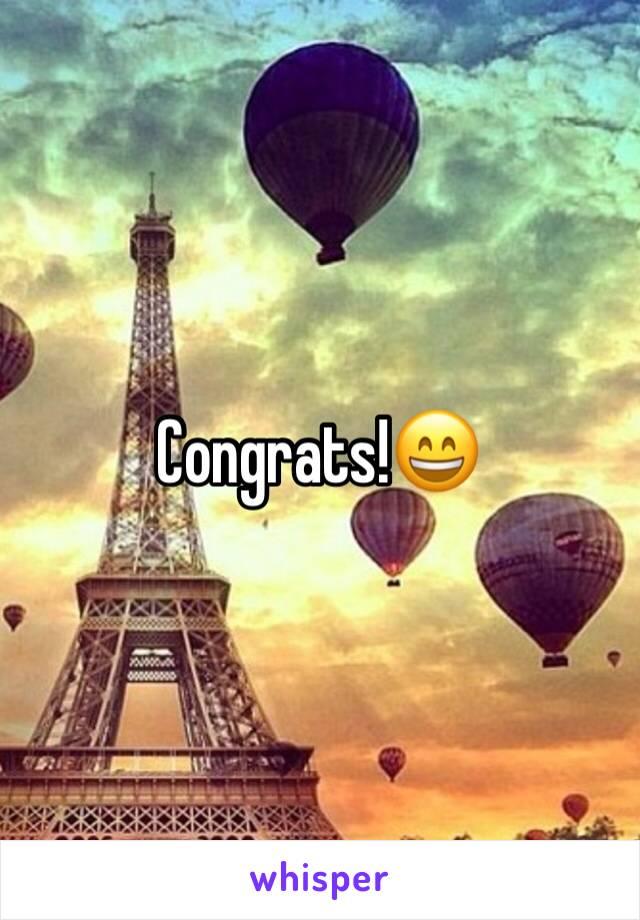 Congrats!😄