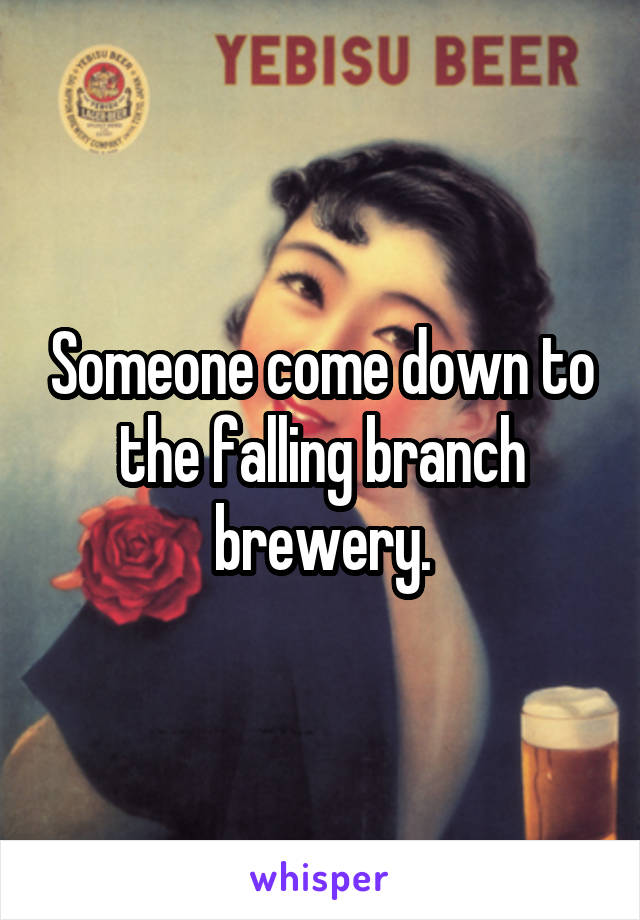 Someone come down to the falling branch brewery.