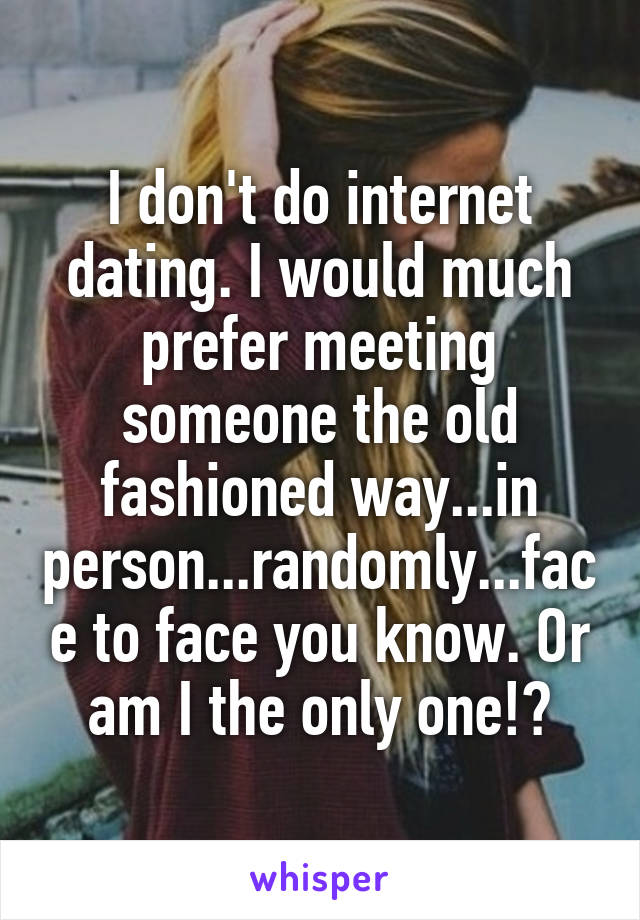 internet dating meeting in person