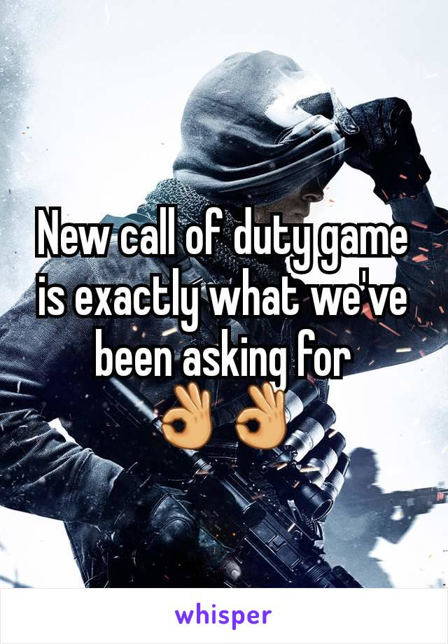 New call of duty game is exactly what we've been asking for 👌👌