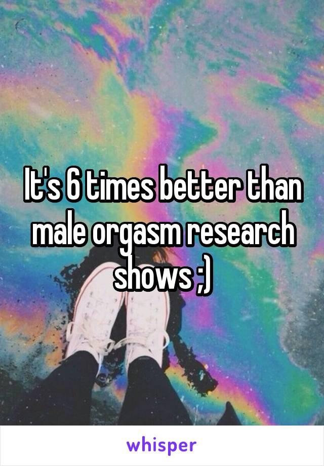 Male orgasm research