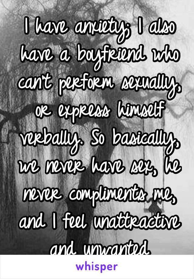 I feel unattractive and unwanted