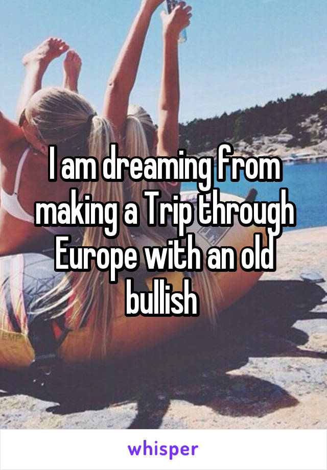 I am dreaming from making a Trip through Europe with an old bullish
