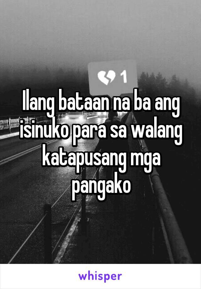 Ilang bataan na ba ang isinuko para sa walang katapusang mga pangako