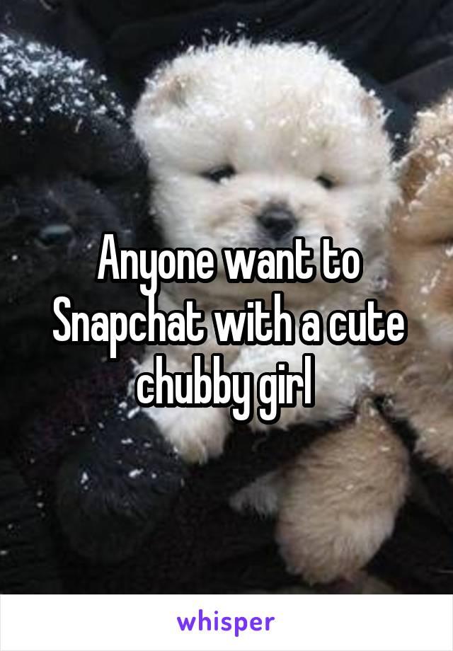 Chubby girl snapchat