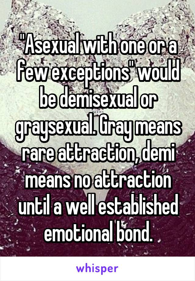 Asexual graysexual demisexual
