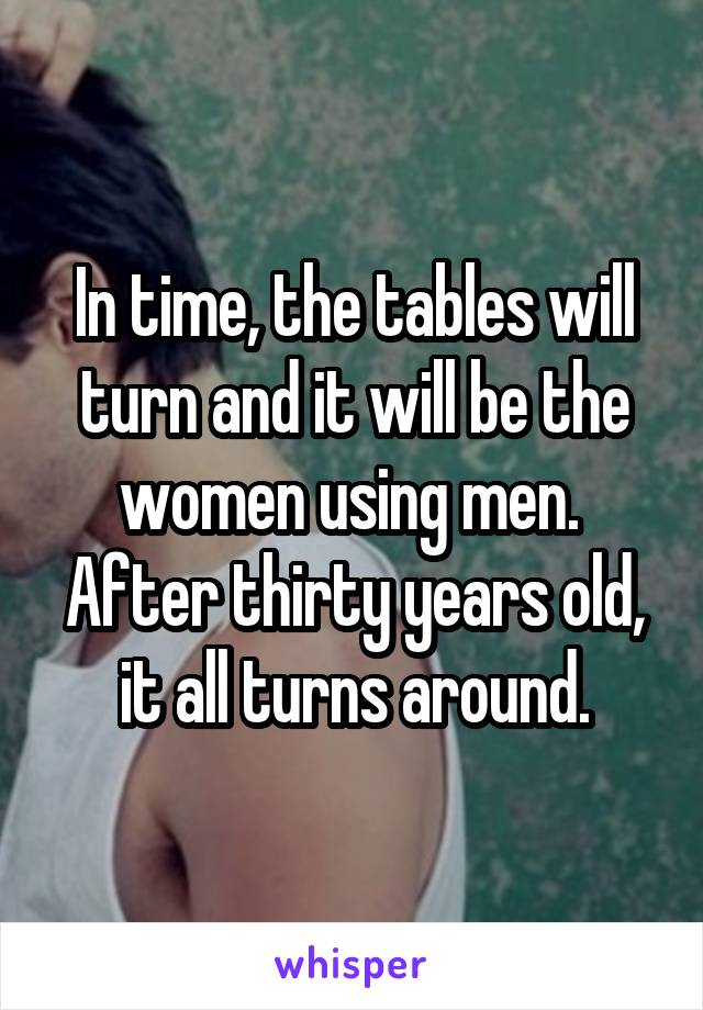 2231b849f In time, the tables will turn and it will be the women using men ...