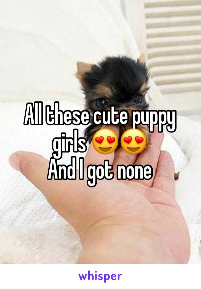 All these cute puppy girls 😍😍 And I got none