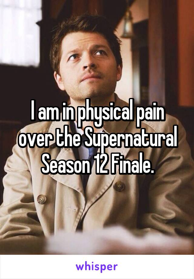 I am in physical pain over the Supernatural Season 12 Finale.