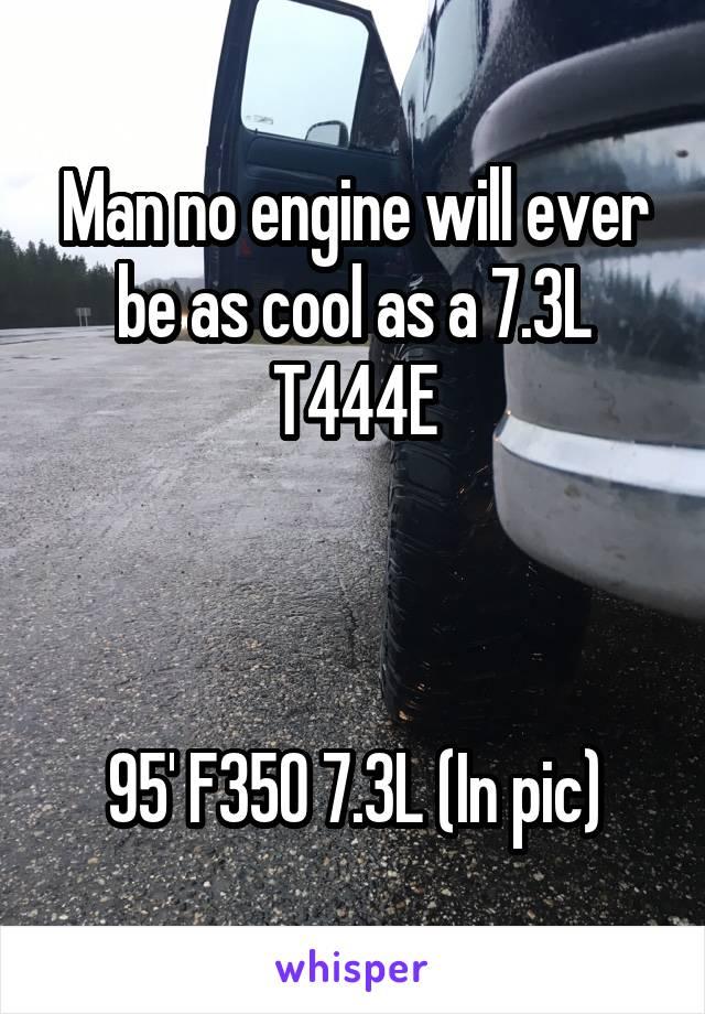 Man no engine will ever be as cool as a 7.3L T444E    95' F350 7.3L (In pic)