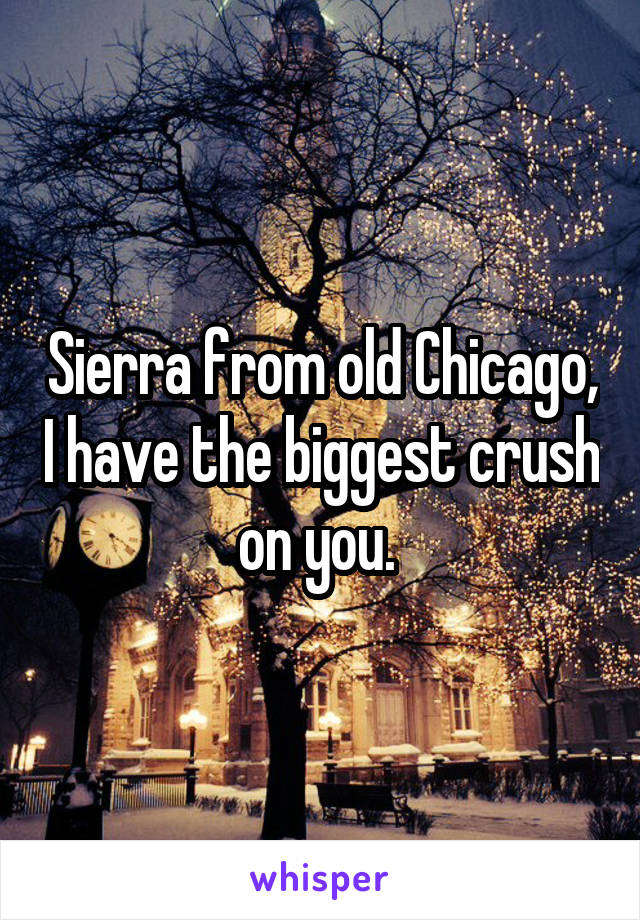 Sierra from old Chicago, I have the biggest crush on you.