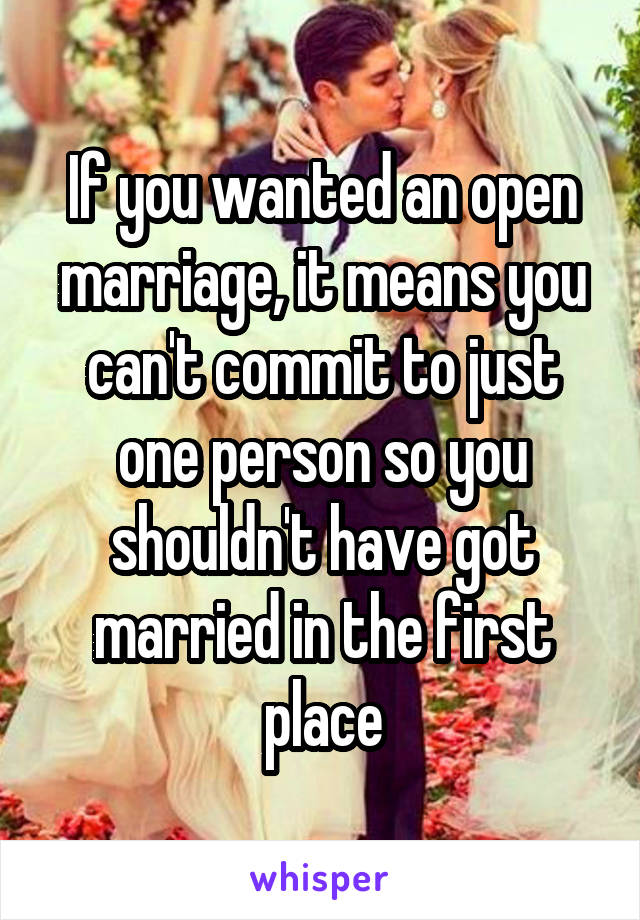 what is open marriage mean