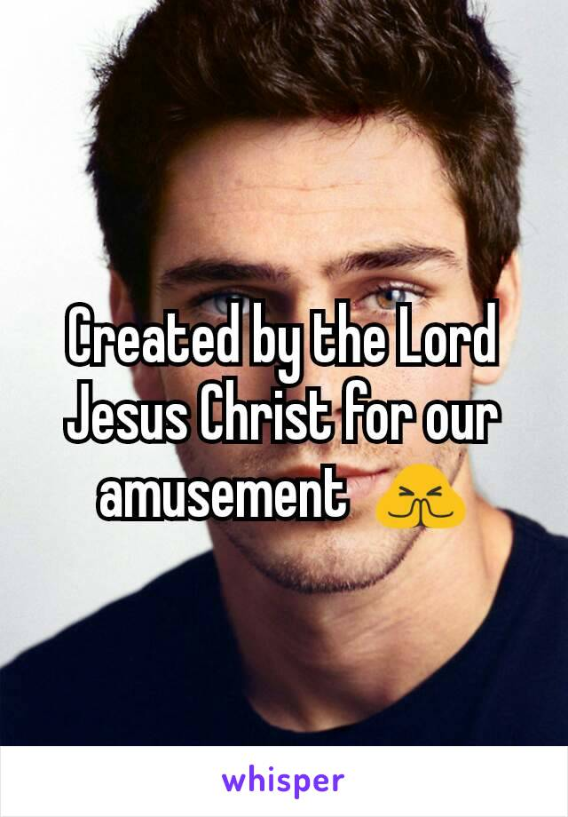 Created by the Lord Jesus Christ for our amusement  🙏