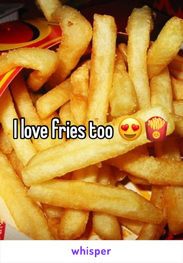 I love fries too 😍🍟