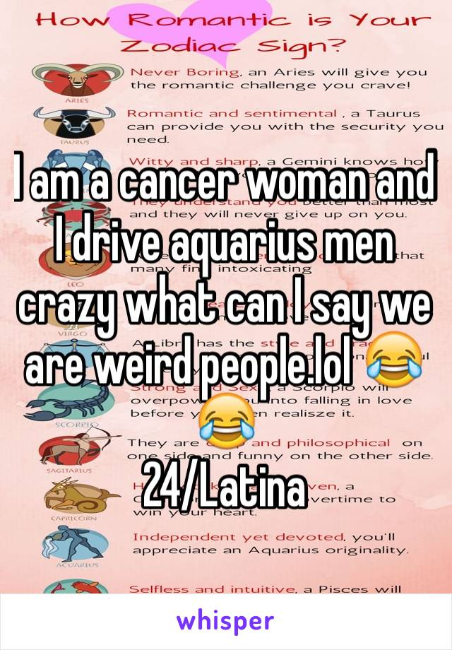 Aquarius and cancer woman