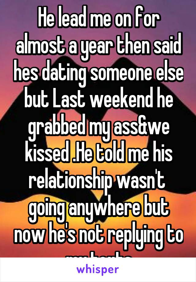 Dating relationship not going anywhere