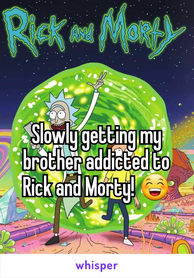 Slowly getting my brother addicted to Rick and Morty! 😁