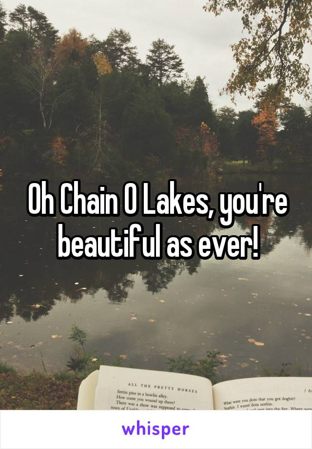 Oh Chain O Lakes, you're beautiful as ever!