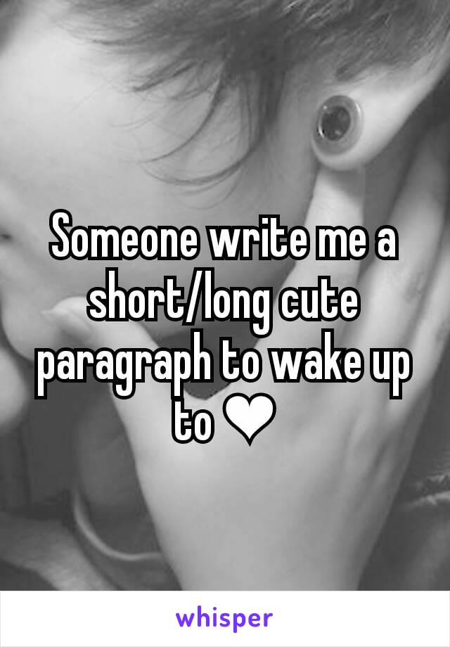 write me a cute paragraph