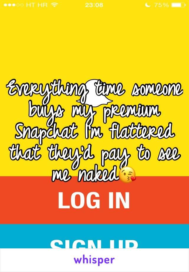 Premium snapchat prices