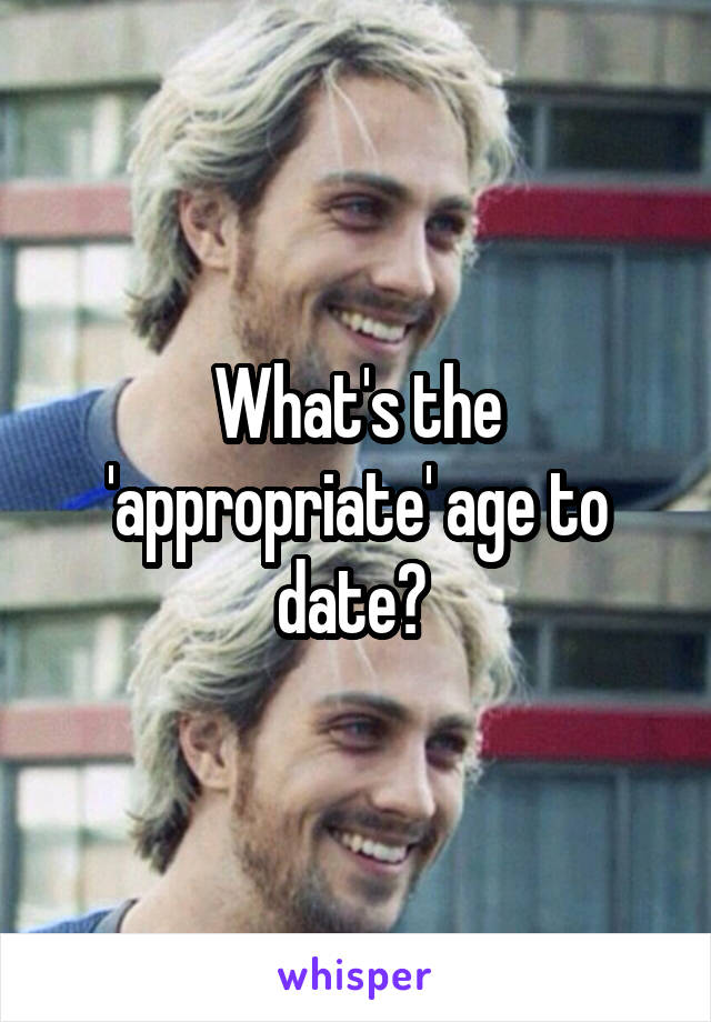 appropriate age to date