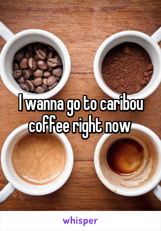 I wanna go to caribou coffee right now
