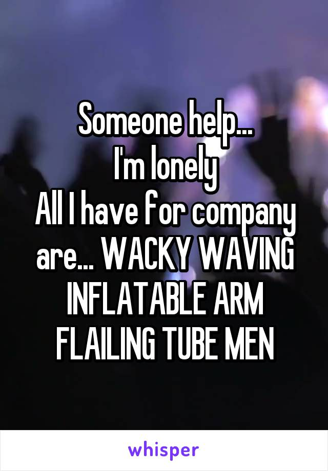 Someone help... I'm lonely All I have for company are... WACKY WAVING INFLATABLE ARM FLAILING TUBE MEN