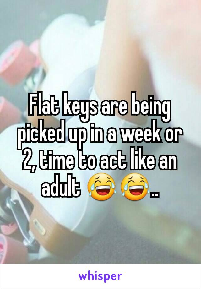 Flat keys are being picked up in a week or 2, time to act like an adult 😂😂..