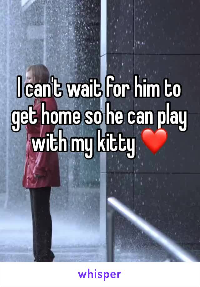 I can't wait for him to get home so he can play with my kitty ❤