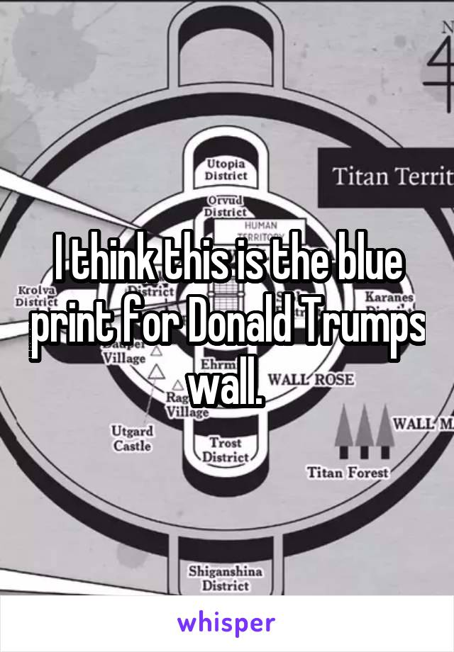 I think this is the blue print for Donald Trumps wall.